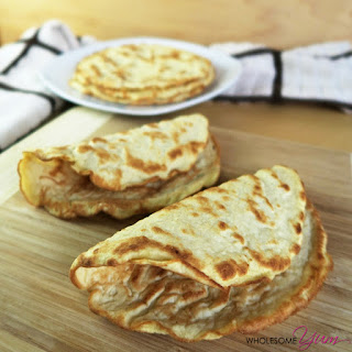 4-Ingredient Coconut Tortillas (Paleo, Low Carb)