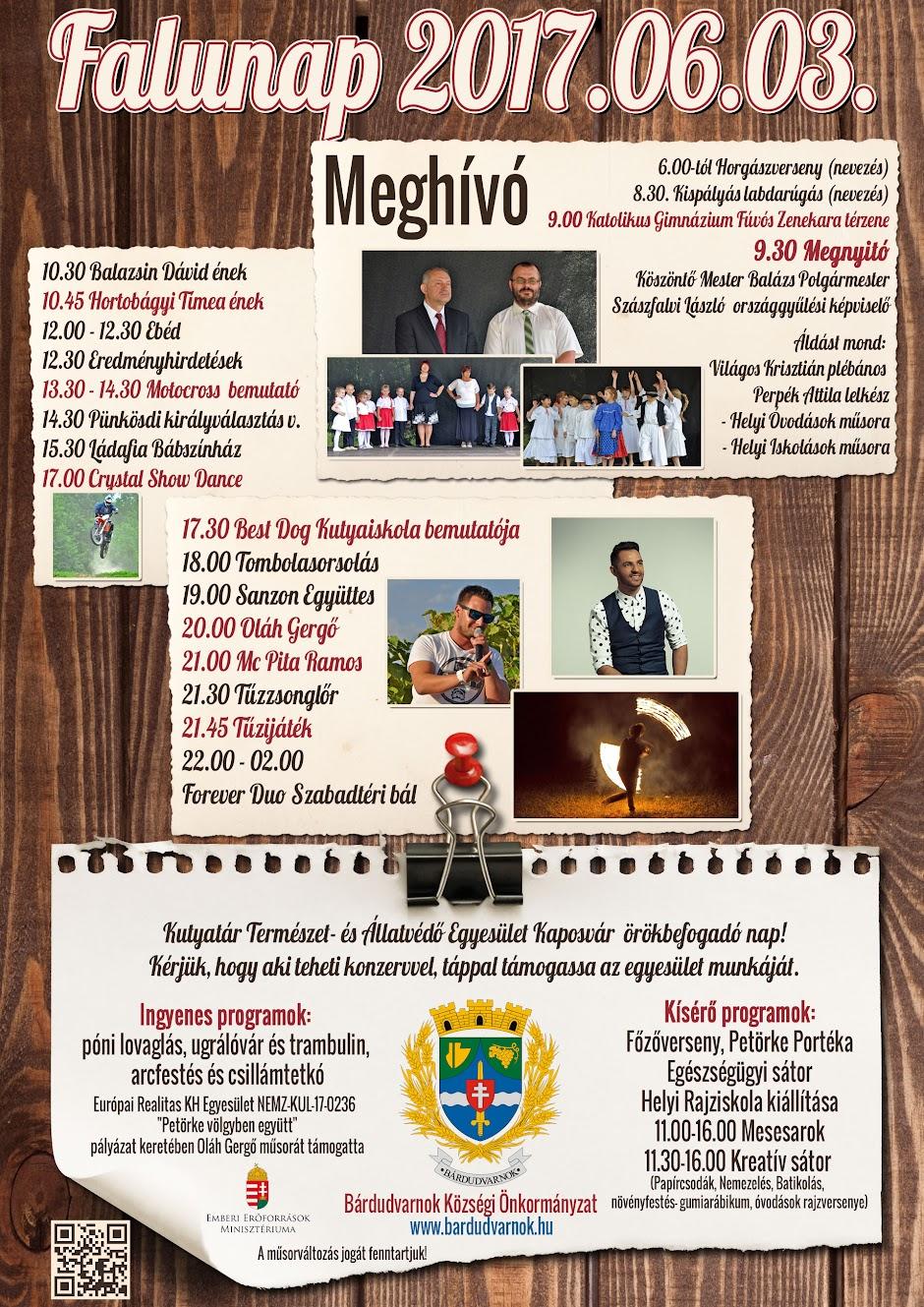 Falunap Bárdudvarnok meghívó 2017