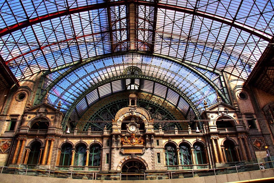 Antwerp Station by Harvey Horowitz - Buildings & Architecture Other Exteriors