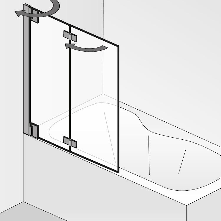 Duschkabinen_K2p 2 bewegliche Elemente