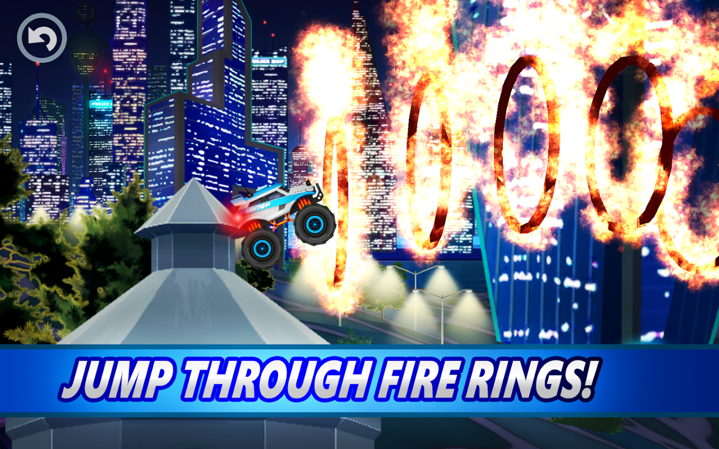 Screenshots of Monster Truck Police Racing for iPhone