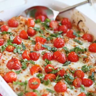 Cheesy Caprese Chicken & Quinoa Casserole.