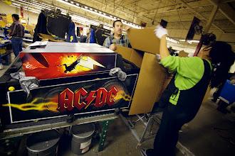Photo: AC/DC pinball goes into the box