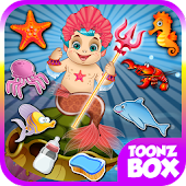 Baby Prince Mermaid Care Game