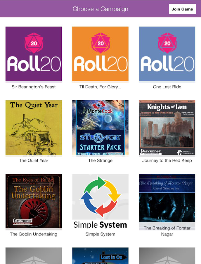 Roll20 for Android- screenshot