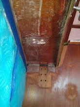 Photo: port salon sidedeck overhead ready for primer