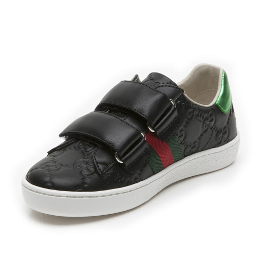 Thumbnail images of Gucci GG Leather Trainer Kid