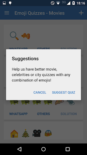Emoji Quizzes for WhatsApp Screenshot