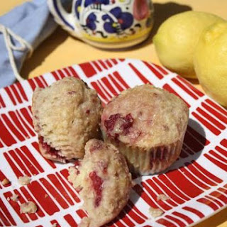 Lemon Ricotta Muffins With Berries