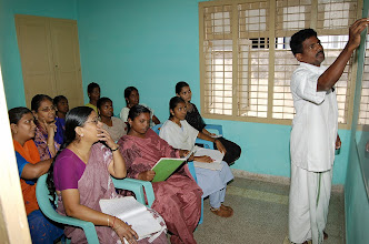 Photo: Life enrichment education class for our women trainees in progress