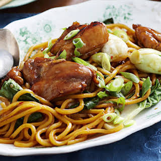 Chinese Plum Chicken with Noodles.