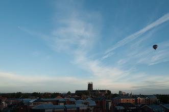 Photo: September 13th 8.29am and hot-air balloon  (Clive Haynes)