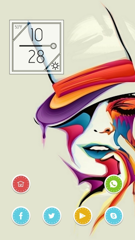 android Colorful Woman Theme Screenshot 0