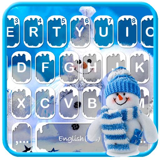 Blue Christmas Keyboard Theme