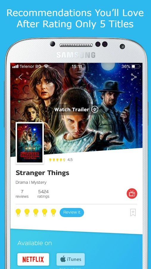 itcher - Movie & Entertainment  Recommendations- screenshot