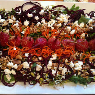 Roasted Beet Salad with Walnuts and Sprouts Recipe