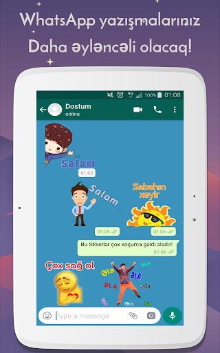 Azerbaijan Stickers for WhatsApp - WAStickerApps 12.2.06 screenshots 10