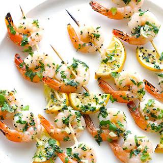 Shrimp Scampi Skewers + Weber Grill GIVEAWAY!