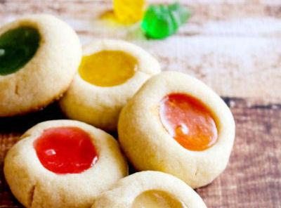 Gummy Bear Thumbprint Cookies Recipe