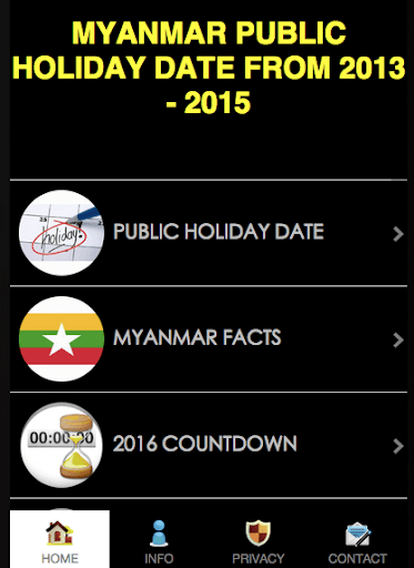 Myanmar Public Holiday 2015