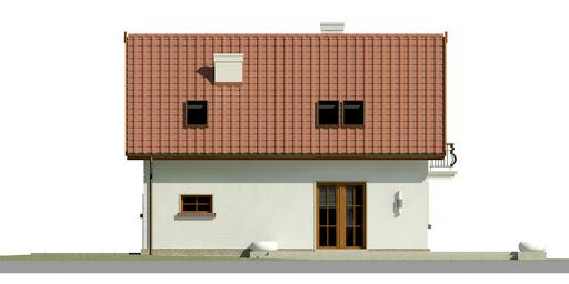 Dom przy Alabastrowej 22 - Elewacja tylna
