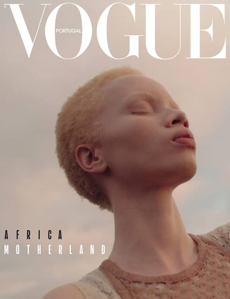"""The magazine honoured the continent by having the South African model on the cover of its April Portuguese edition, """"African Motherland""""."""