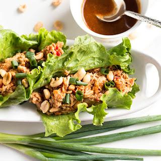 Peanut Asian Chicken Lettuce Wraps