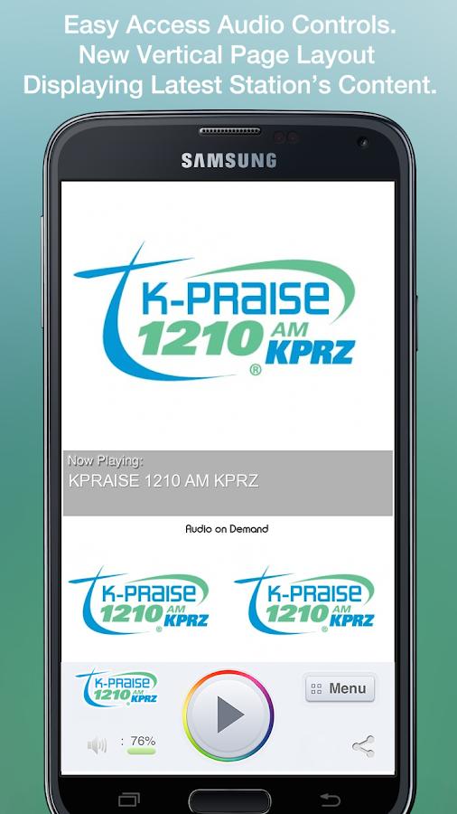 KPRAISE 1210 AM KPRZ - screenshot
