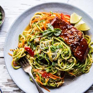 Hoisin Salmon with Zucchini Slaw.
