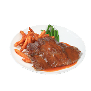 Minute Beef Steak with Frence Fries ,Lime Sauce