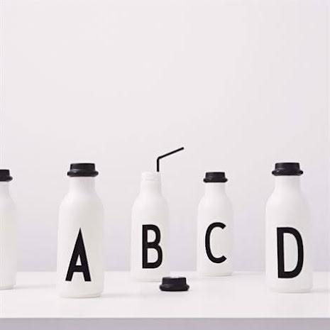 Design Letters Vattenflaska A-Z