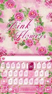 Pink Flower Emoji KikaKeyboard - náhled