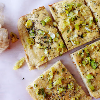 Leek And Roasted Garlic Focaccia Bread