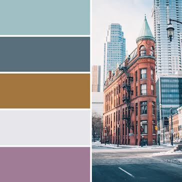 Cityscape Color Palette - Brand Board Template
