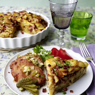 Potato Gratin with Pork Medallions