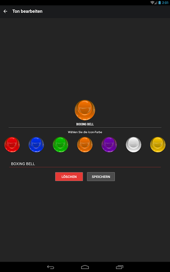 Instant Buttons – Screenshot