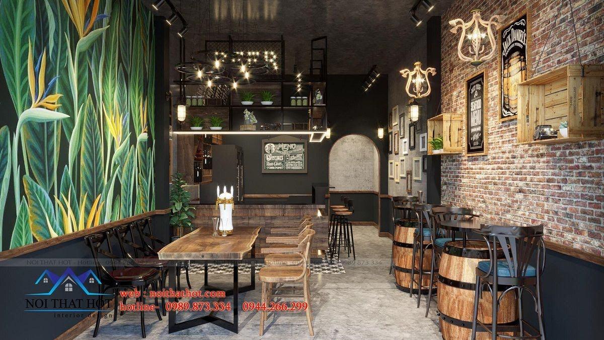 thiết kế quán bia độc đáo
