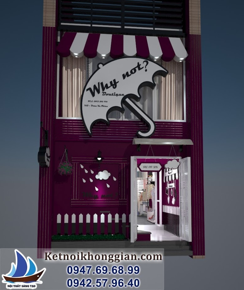 thiết kế shop thời trang nữ tinh tế