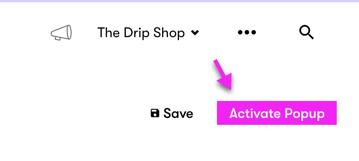 Activate Popup button.