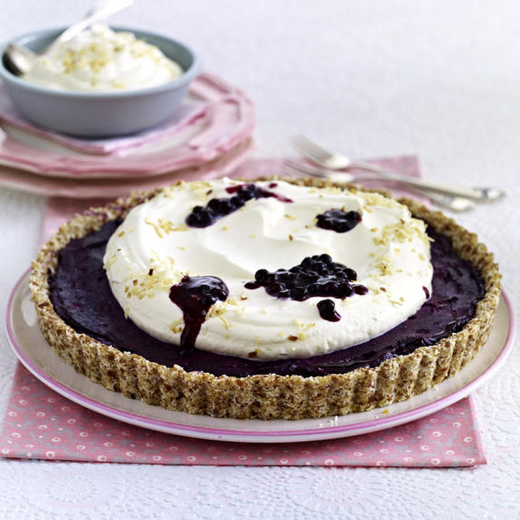 Blueberry Almond Tart with Coconut Whipped Cream Recipe