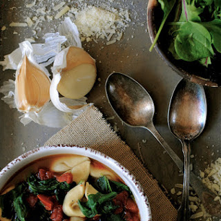 Tortellini, Spinach, and Black Bean Soup Recipe