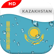 Kazakhstan Flag 3D live wallpaper