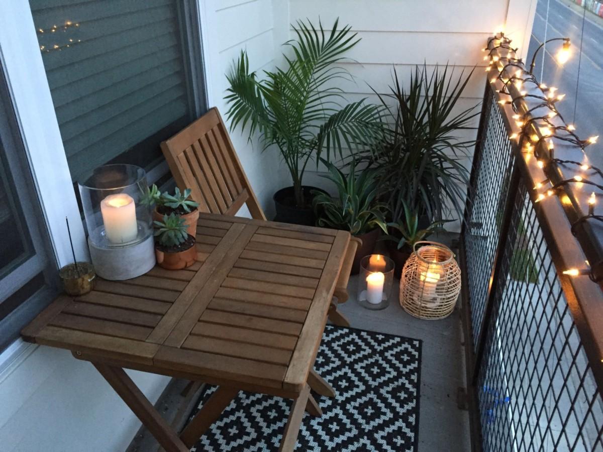 открытый балкон складная мебель