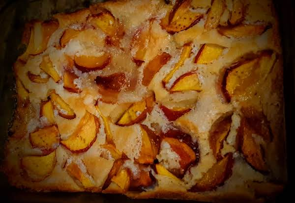 Just Out Of The Oven And Looking Yummy What W/ Those Fresh Southern Peaches & Real Cream!