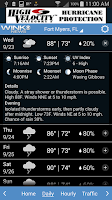 Screenshot of WINK Weather