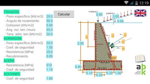 Cálculo de muros de hormigón