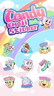 Cute Candy Emoji Sticker - náhled