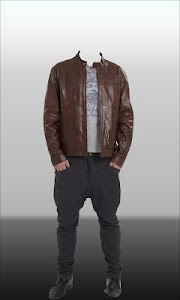 Men Leather Jacket Photo Suit screenshot 4