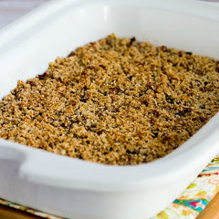 Low-Sugar and Gluten-Free Slow Cooker Blueberry Crisp
