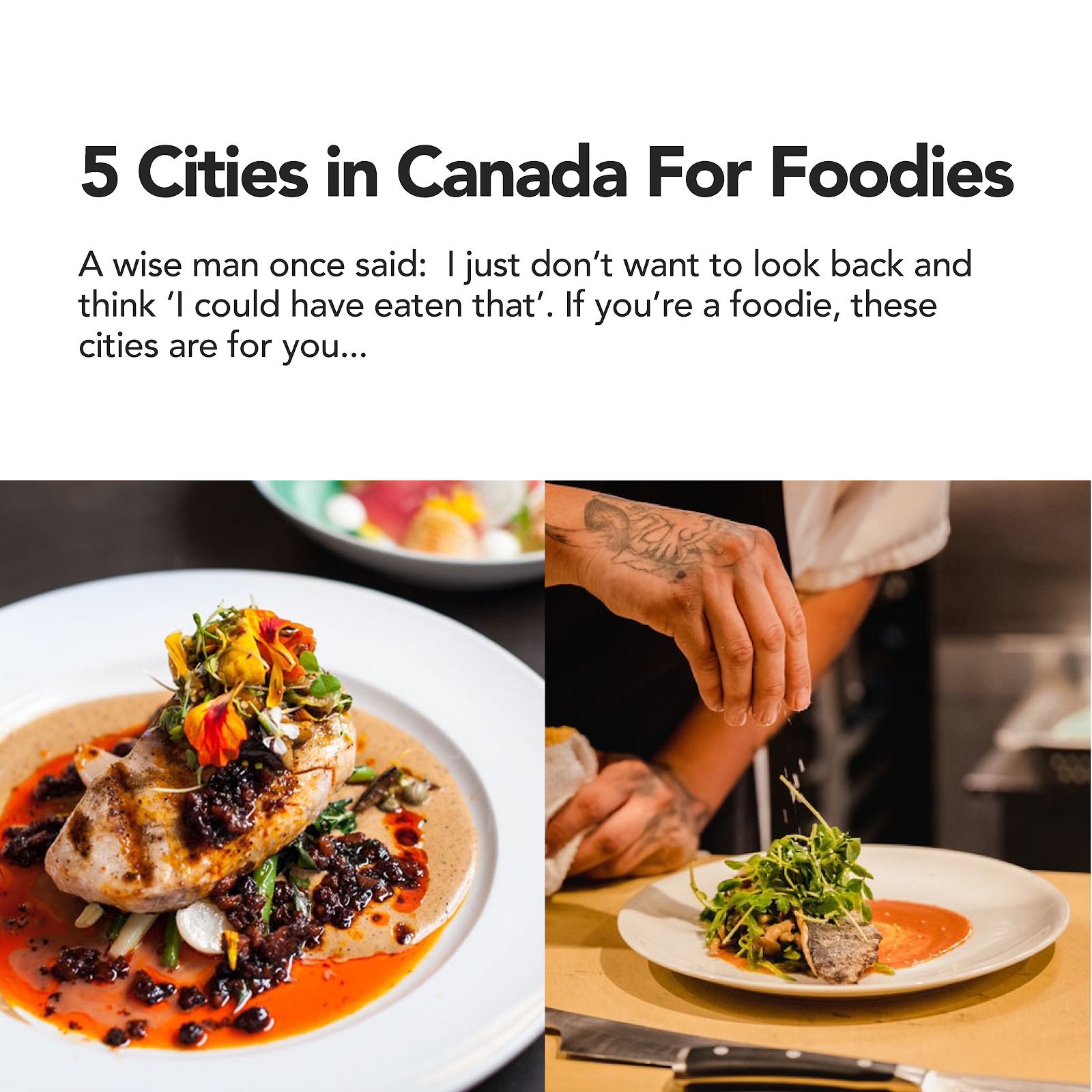 5 cities in canada for foodies toronto montreal vancouver calgary edmonton